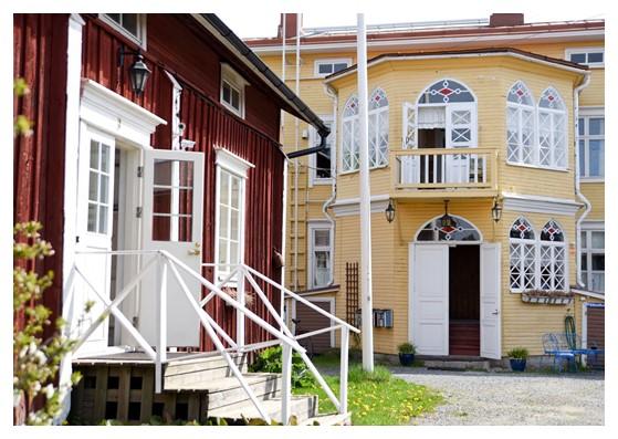 Hotelli Krepelin - Kauppa - Postikorttikokoelma - Kristiinankaupunki - Krepelinin päärakennus